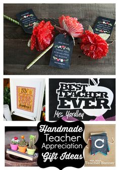Handmade Teacher Gift Ideas www.skiptomylou.org #teacherappreciationgifts #handmadeteachergifts #DIY