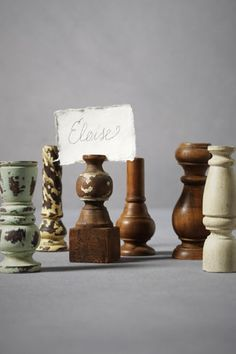place card holders . . . these are so much fun! . . .