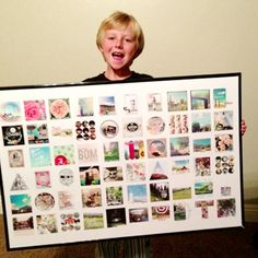 Showcase 60 instagram or square photos with this Insta BIG template & print from Persnickety Prints. (no photoshop needed)