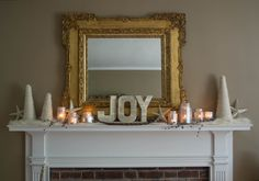 A Vintage Style Holiday Mantel by @Hannah Mestel B. on Made + Remade