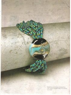 Idea to use my navy blue/silver lampwork bead