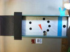winter snowman door...decorate the door to your kids' room or playroom