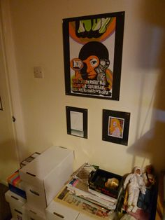 Dave in Bath, England has the NDP election poster we made in '05 just chillin' with some action figures.