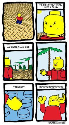 LEGO Problems - http://dashburst.com/humor/lego-problems/