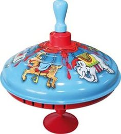 Carousel Spinning Top - so retro and cool!