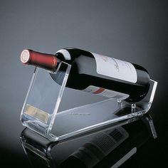 Acrylic wine bottle holder.