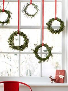 Hanging wreaths for