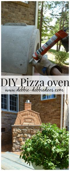 Outdoor spaces, dinning DIY Pizza Oven | #diy #pizzaoven #roundboy