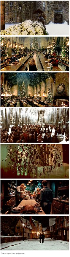 Harry Potter films + Christmas