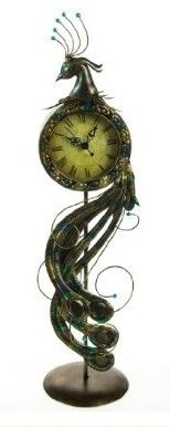Metal Peacock Clock / Cracker Barrel @ http://shop.crackerbarrel.com/Metal-Peacock-Clock/dp/B00AIVXXIM