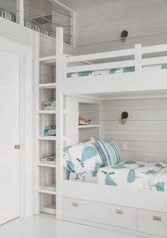 bunk beds with a loft - great idea!
