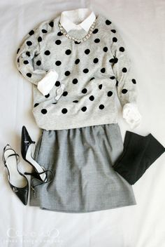 love the polka dot sweater