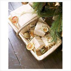 Many, many gift wrapping ideas!
