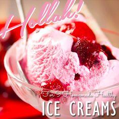 9 Healthy Homemade Ice Creams for summer! #icecream #recipes #healthy #easy #vegan