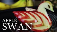 How to Make an Edible Apple Swan!  How to make a decorative, and completely edible, apple swan!  I made a few modifications to the original idea, to get the effect you see here.  Check out: http://www.thekingofrandom.com