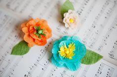 Crepe Paper Flower Tutorial. #diy #paper #flowers
