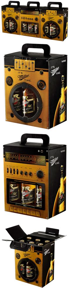 Miller Boom Box - The Dieline - http://www.thedieline.com/blog/2012/6/22/miller-boom-box.html #packaging via @The Dieline