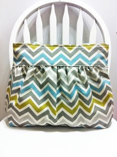 This Gorgeous Gathered shoulder bag is made by me in Large Bag / Purse in Summer land / Natural chevron Home Deco Fabric. The lining that I use is 100% Cotton twill in charcoal color. It has 2 large pockets inside + Small pocket (perfect for your Keys, Phones, Make up Etc.) and pen slip to help you organize and for easy access.