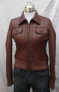 Leather jacket casual wear bomber style 631  $229.99