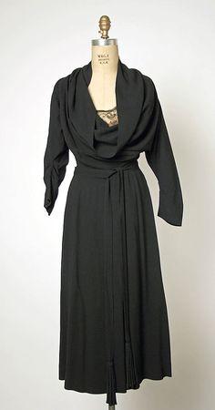 evening dress, wool and silk; Gilbert Adrian, ca. 1948