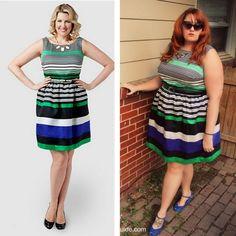 Eloquii Preppy Stripe Dress from Gwynnie Bee