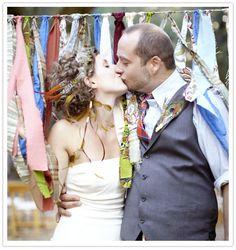 wedding ties, idea, bow ties, ribbon, fabric scrap