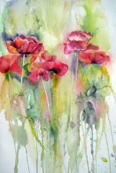 art case, watercolor poppi, case flower, aquarell, highway poppi, appalachian highway, poppi watercolor, poppies, flower poppi