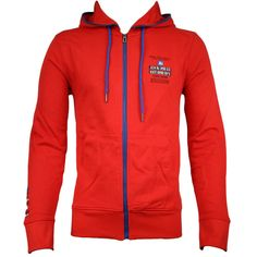 Jack & Jones Carson Mens Sweat Hoody in Fiery Red official sponsors of the Danish 2012 Olympic team.  Visit www.hypedirect.com