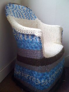 The Not-so-ubiquitous Knitted Chair by yuvee #knit #free_pattern
