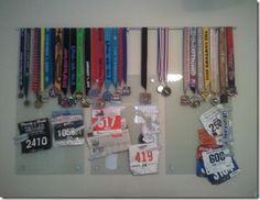 Display those race medals!