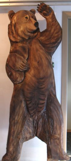 "Pine- 4"" relief bear sold"