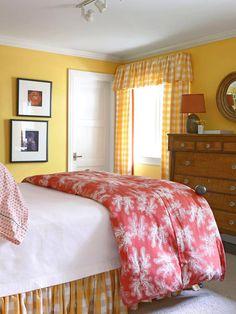 bedroom idea, color palettes, warm colors, yellow color, color schemes