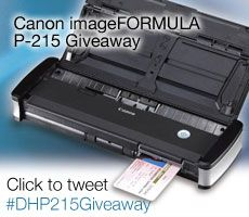 Want a free P-215 Scan-tini?  Enter to win one from @Evernote Pinterest Pinterest and @DanHedrick! http://www.danielhedrick.com/v6/2013/07/history-canon-imageformula-p-215/