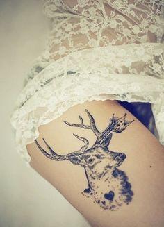 deer & heart #tattoos
