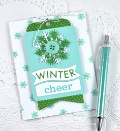 Winter Cheer Card by Dawn McVey for Papertrey Ink (October 2014)