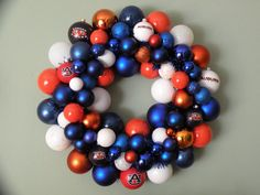 AUBURN TIGERS Ornament Wreath $56