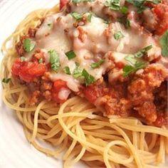 Camp David Spaghetti with Italian Sausage - Allrecipes.com