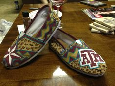 Texas Aggie Painted Toms