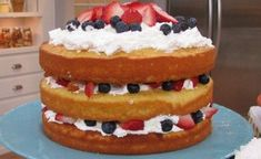 Strawberry Blueberry Refrigerator Cake
