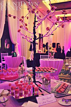Pink dessert table - Four Seasons Hotel Vancouver