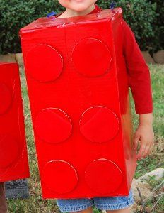 If you're looking for a quick costume idea, go with the adorable Lego Costume. This fun cardboard craft is inexpensive and easy to make. Throw it together the night before and still win best costume.
