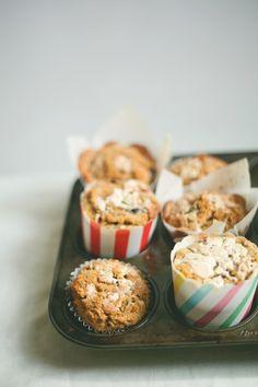 whole wheat tahini muffins