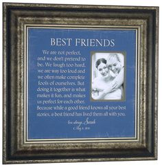 Best Friends Sister Bridesmaid Gift , Personalized by Photo Frame Originals