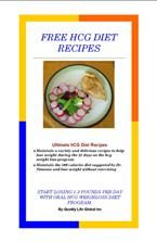 hcg diet recipes book - phase 1