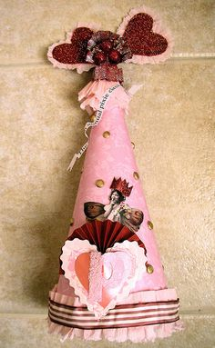 Here is my party hat for the Princess and The Pea Hat Swap!I call this hat: The Red Pixie Circus!