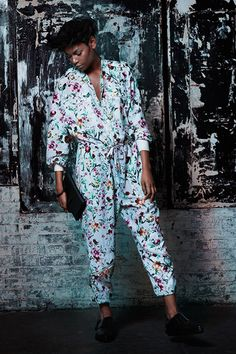 Floral jumpsuit #Saks #fashion #style #31PhillipLim