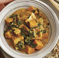 Thai Tofu, Swiss Chard, and Sweet Potato Curry