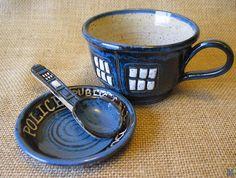 TARDIS tea cup