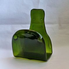 Kilnformed Small Recycled Wine Bottle Napkin holder