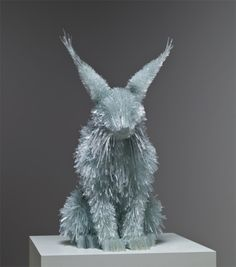 Animal sculptures made from shattered glass pieces. Using carefully broken shards of colored glass, Polish artist Marta Klonowska assembles translucent animals in life-like proportion and size. Almost all of her sculptures are based on animals found in baroque and romantic paintings by such artists as Peter Paul Rubens or Francisco de Goya next to which they are often displayed. Her work appeared most recently at European Glass Context 2012, and you can see many more images over on lorch + seide